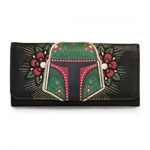 Loungefly - sugar skull Boba Fett wallet (front)