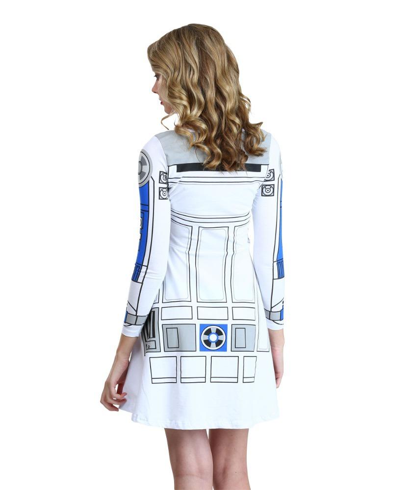 18ce11d897 ... Shirts.com - women s long sleeved R2-D2 skater dress (back)