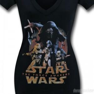 SuperHeroStuff - women's v-neck The Force Awakens t-shirt (detail)