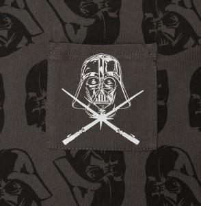 Thinkgeek - women's plus size Darth Vader pocket tee (detail)