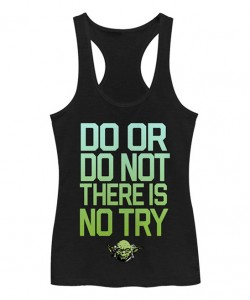 Zulily - women's Star Wars workout themed tank top by Chin Up Apparel