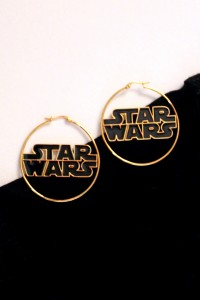Body Vibe Star Wars logo hoop earrings
