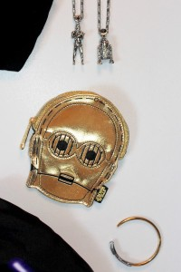 Loungefly C-3PO coin purse and Han Cholo jewelry