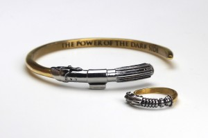 Han Cholo - Shadow Series stainless steel lightsaber ring and cuff