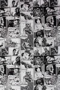 Hybrid - women's Star Wars comic art hi-lo dress (detail)