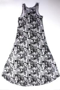 Hybrid - women's Star Wars comic art hi-lo dress (back)