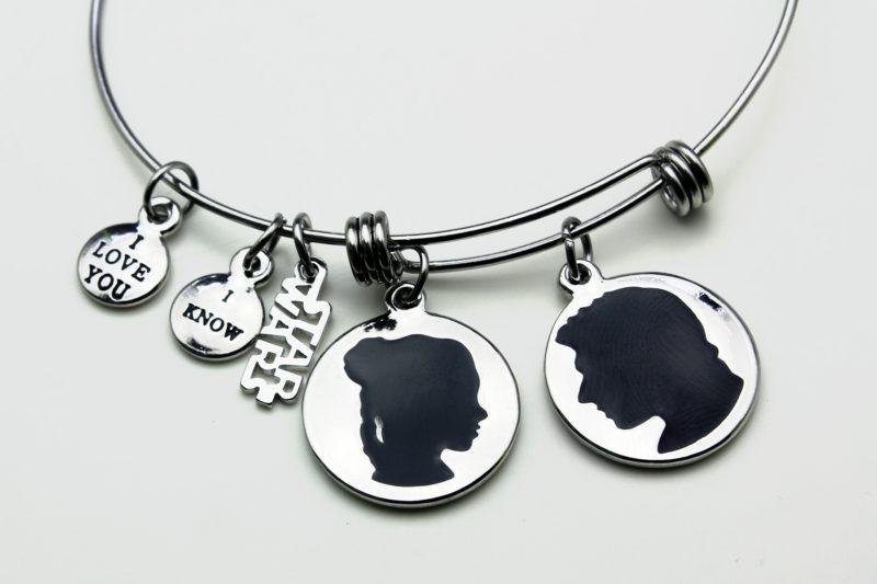 Body Vibe x Star Wars Princess Leia and Han Solo expandable charm bracelet