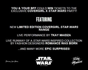 Covergirl Australia - Star Wars Fashion event competition