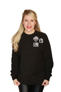 Her Universe - Dark Side Patches pullover (front)