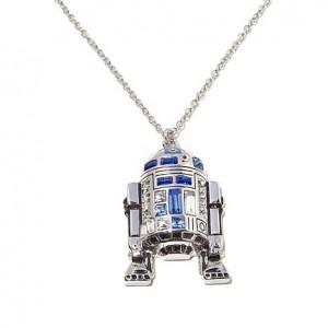 "HSN - Star Wars ""R2-D2"" Silvertone 18"" Drop Necklace"