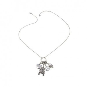 """HSN - Star Wars """"The Light Side"""" Necklace with 4 Charms"""