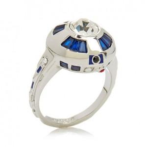"HSN - Star Wars ""R2-D2"" Silvertone Ring"