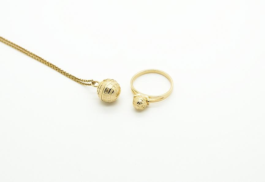 MALAIKARAISS - Death Star necklace and ring
