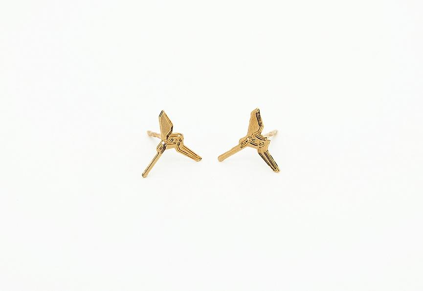 MALAIKARAISS - Imperial Shuttle stud earrings (small)