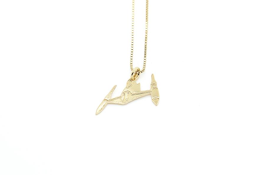 MALAIKARAISS - Naboo Starfighter necklace