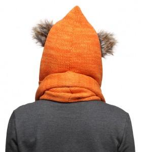 Thinkgeek - exclusive ewok knit hooded scarf (back)