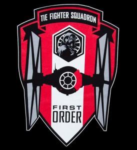 Thinkgeekk - TIE Fighter Squadron unisex hoodie (detail)