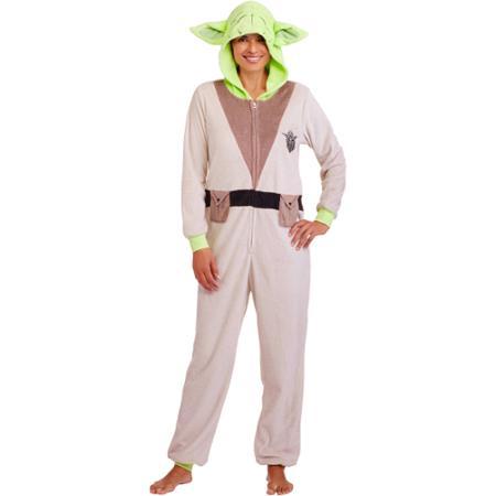 Walmart - women s Yoda one piece pyjama suit (front) ... 419afacb352