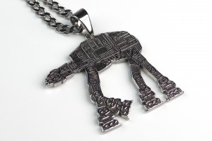 Body Vibe - stainless steel AT-AT necklace