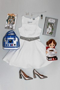 Wear Star Wars Share Star Wars - Princess Leia themed outfit flatlay