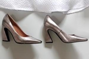 'Derien Peweter' heels by Jeffrey Campbell