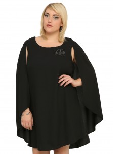 Hot Topic - women's plus size Darth Vader cape dress by Her Universe (front)