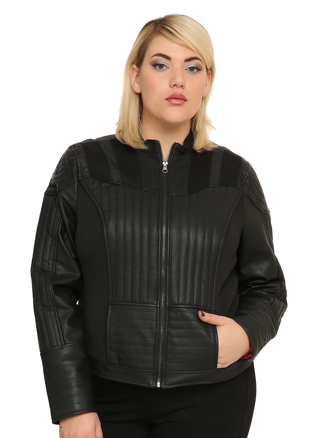 e65b004540 Hot Topic - women's plus size Darth Vader jacket by Her Universe (front) ...