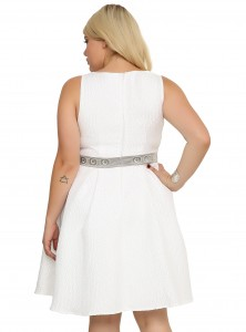 Hot Topic - women's plus size Princess Leia dress by Her Universe (back)