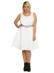 Hot Topic - women's plus size Princess Leia dress by Her Universe (front)