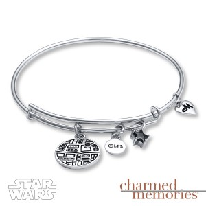 Kay Jewelers - Sterling silver Death Star charm bracelet