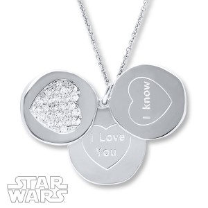 Kay Jewelers - Sterling silver 'I Love You' - 'I Know' 3 pendant necklace