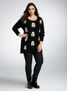Torrid - women's plus size Stormtrooper sweater by Her Universe