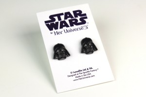 Her Universe - Darth Vader stud earrins by The Sparkle Factory