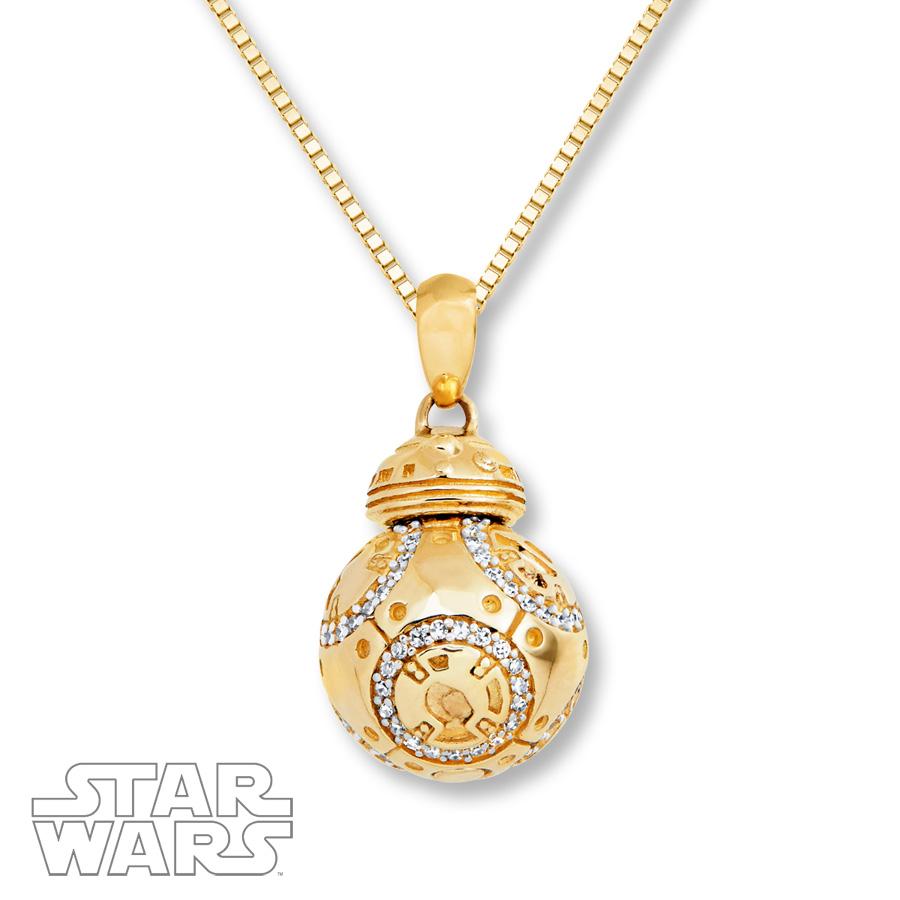 df1d0b62e61 ... Kay Jewelers - 14k yellow gold 1/4 CT Diamond BB-8 necklace