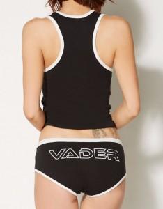 Spencers - women's Darth Vader tank pyjama set (back)