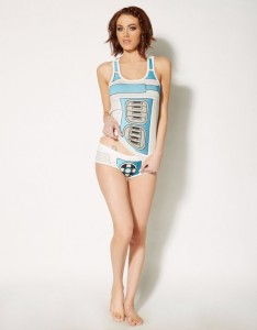 Spencers - women's R2-D2 tank pyjama set (front)