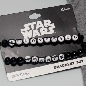 Bioworld - 'I Love You' - 'I Know' bead bracelet set