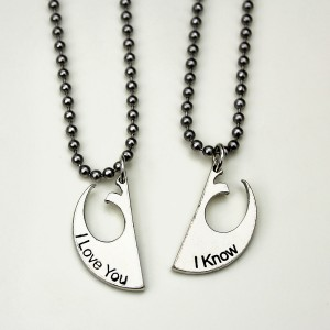 Her Universe - 'I Love You' - 'I Know' necklace set