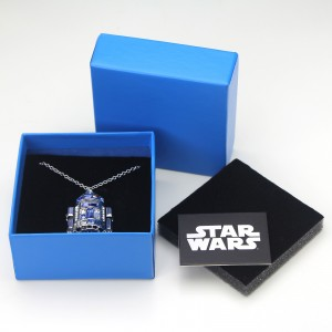 HSN - 'bling' R2-D2 necklace by SG@NYC, LLC (with packaging)