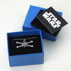 HSN - 'bling' X-Wing Fighter necklace by SG@NYC, LLC (with packaging)