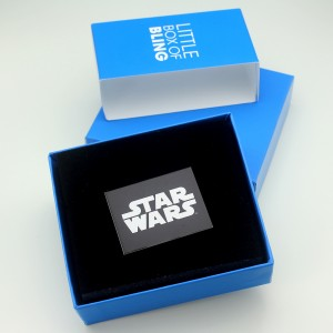 HSN - 'bling' Darth Vader lightsaber necklace by SG@NYC, LLC (packaging)
