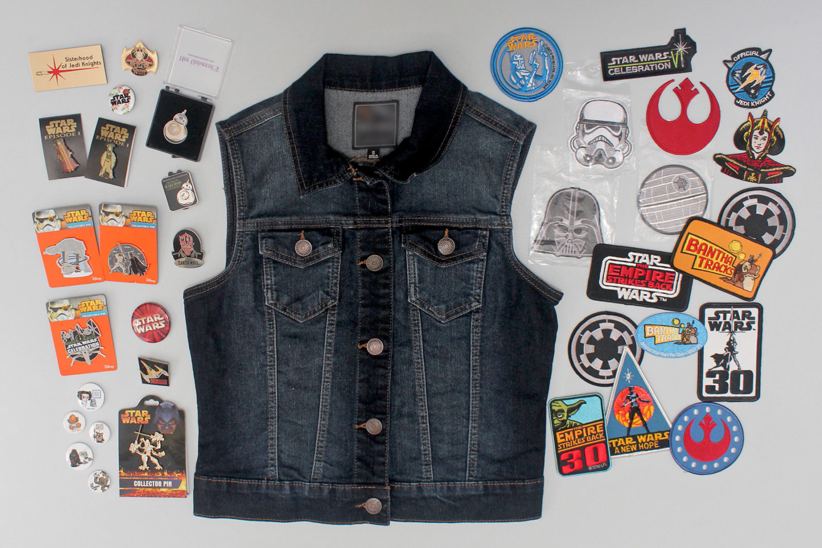 Styling pins and patches