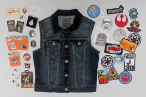 Star Wars pins and patches for styling my denim vest