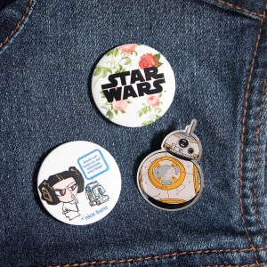 Denim vest with Star Wars pins