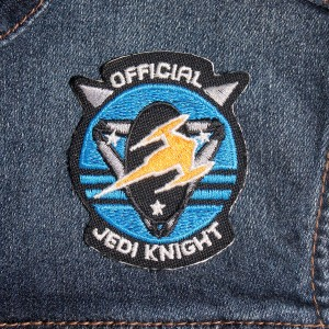 Denim vest with Star Wars patch