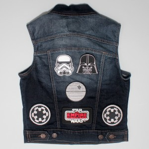 Denim vest with Star Wars patches