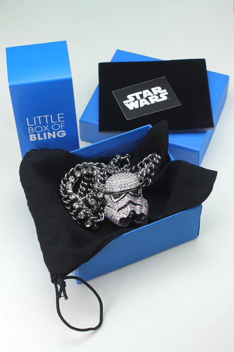 HSN - 'bling' Stormtrooper helmet necklace by SG@NYC, LLC (with packaging)