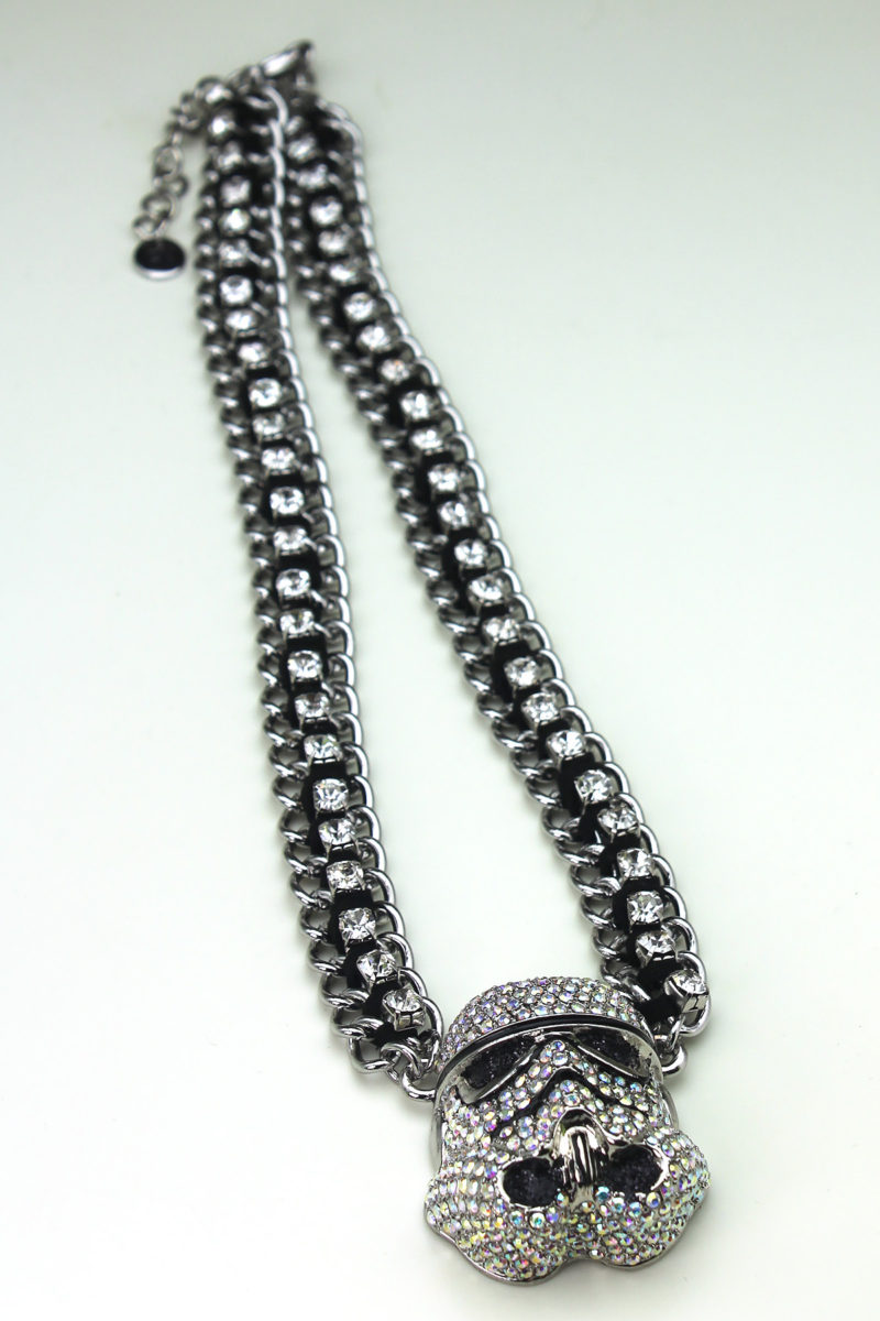 HSN - 'bling' Stormtrooper helmet necklace by SG@NYC, LLC