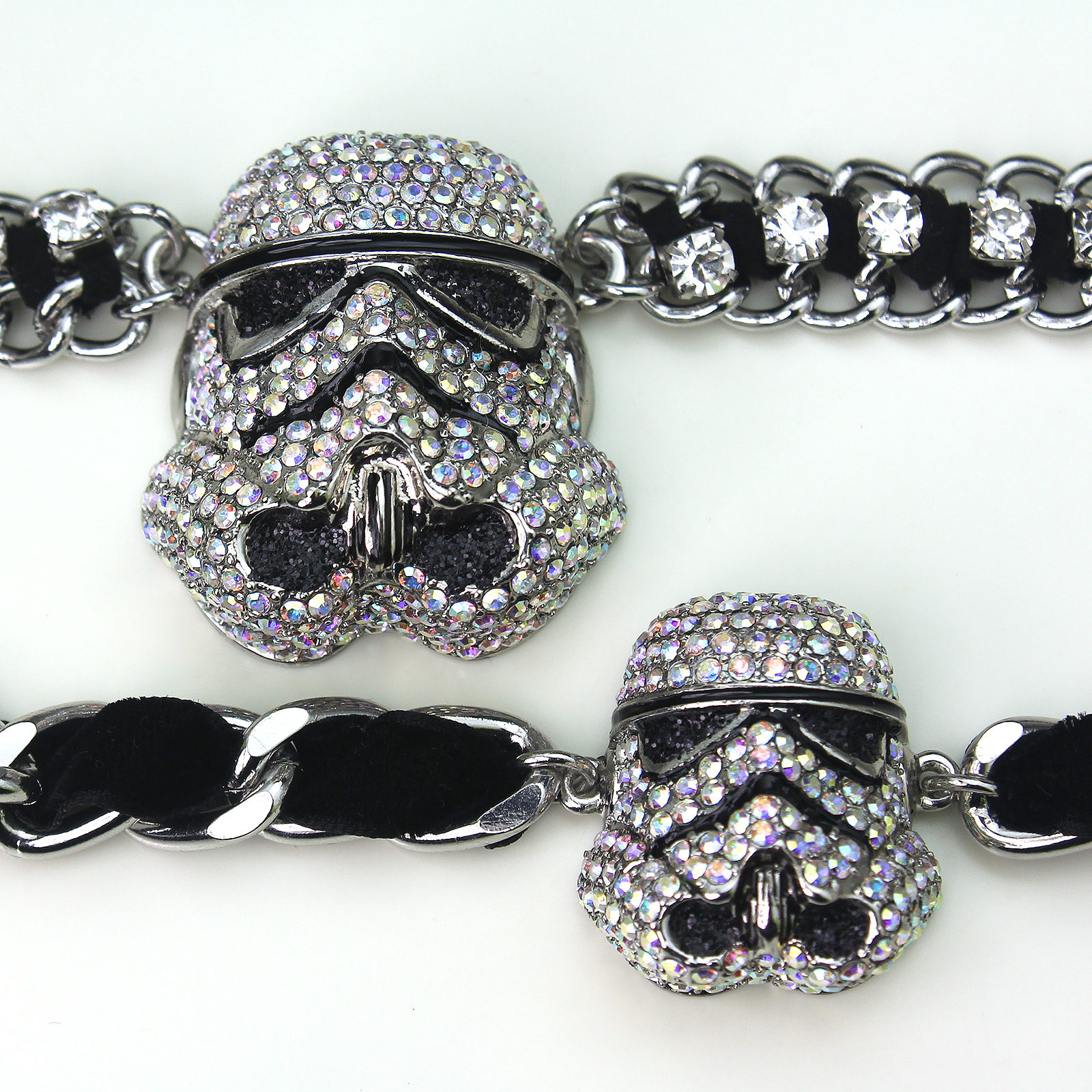 HSN - 'bling' Stormtrooper helmet jewelry by SG@NYC, LLC (size comparison)