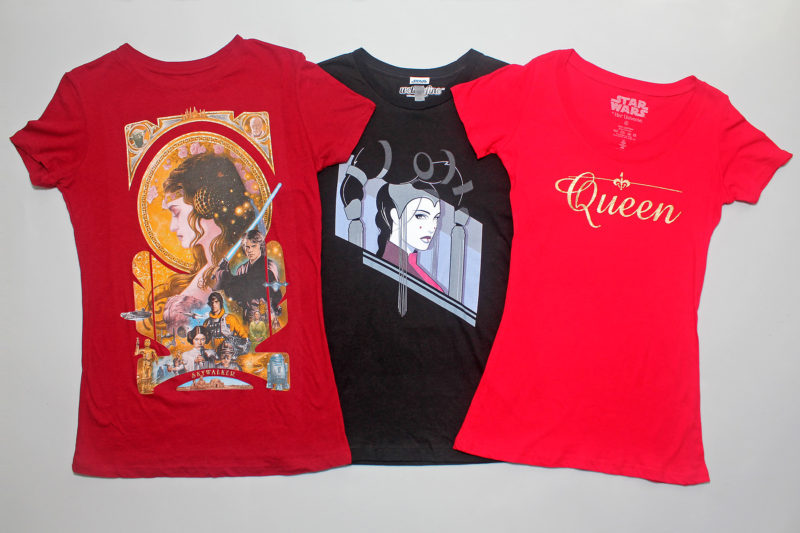 Padme' Amidala-inspired women's t-shirts